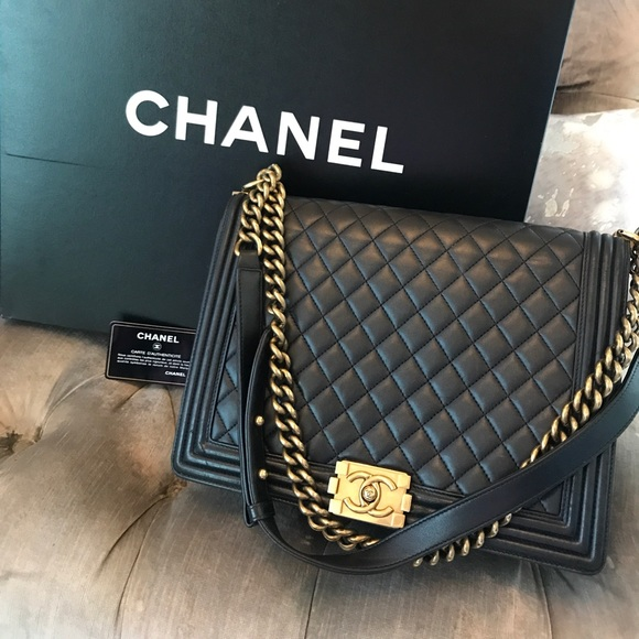45740130f95b CHANEL Handbags - Chanel boy bag large